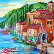 Via Positano By The Lake Art Print