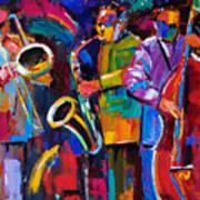 Vibrant Jazz Art Print