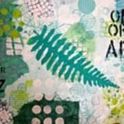 Vibrant Meadow Fern Art Print