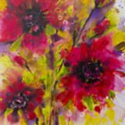 Vibrant Pink Poppies Art Print