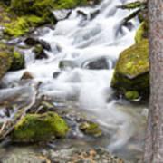 Vibrant Waterfall Landscape Art Print