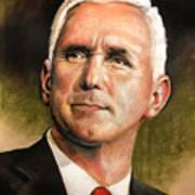 Vice President Mike Pence Portrait Art Print