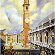 Vicenza Italy Travel Poster Art Print