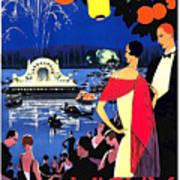 Vichy, Firework At Celebration Night Art Print
