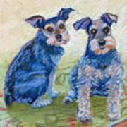 Vickie's Pups Art Print