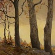 Victor Coleman Anderson 1882  1937 Wet Leaves Art Print