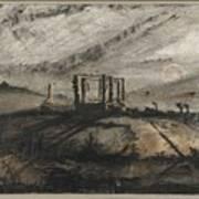 Victor Hugo   Gallows Of Montfaucon   1847 Art Print
