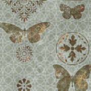 Victorian Deco Sage Art Print by JQ Licensing