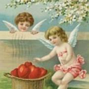 Victorian Era Valentine Card Art Print