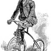 Victorian Gentleman Cycling Art Print