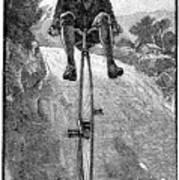Victorian Gentleman On A Penny-farthing Art Print