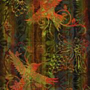 Victorian Humming Bird 3 Art Print by JQ Licensing