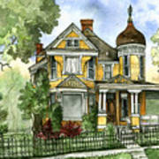 Victorian In The Avenues Art Print