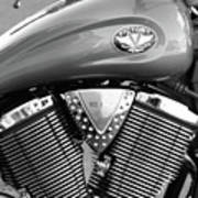 Victory Motorcycle Virginia City Nv Print by Troy Montemayor