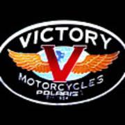 Victory Motorcycles Emblem Art Print