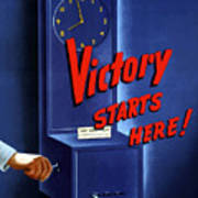 Victory Starts Here Art Print by War Is Hell Store