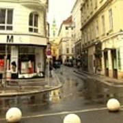 Vienna Corner After The Rain Art Print