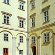 Vienna Courtyard Chat Art Print