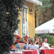 Vienna Restaurant In The Park Art Print