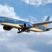 Vietnam Airlines Boeing 787 Dreamliner Art Print