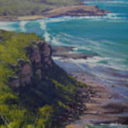 View Across Frazer Beach  Nsw Australia Art Print