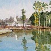 View Across The Pond Art Print