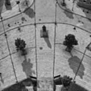 View From A Church Tower Monochrome Art Print