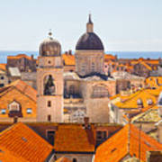 View From Above Of Dubrovnik Art Print