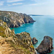 View From Cabo Da Roca, The Western Point Of Europe, Portugal Art Print