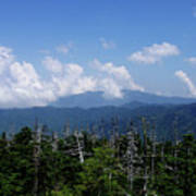 View From Clingman's Dome Art Print