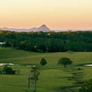 View From Dahmongah Lookout In Mount Mee Art Print