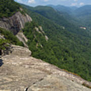 View From Exclamation Point At Chimney Rock Nc Art Print