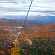 View From Mount Mansfield In Autumn Art Print