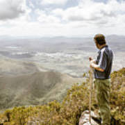 View From Mt Zeehan Tasmania Art Print