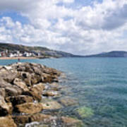 View From North Wall - Lyme Regis Art Print