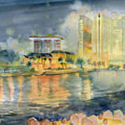 View From Quay Singapore Art Print