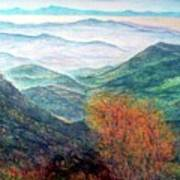 View From The Autumnal Belchen   Art Print