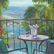 View From The Balcony Art Print