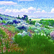 View From The Cabin Window 2 Art Print