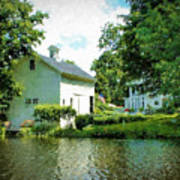 View From The Mill Pond Centerbrook Ct Art Print