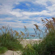View From The Outer Banks Dunes Art Print