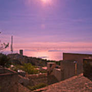 View From The Top In Sicily 2 Art Print