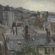 View From Vincent S Studio Paris, June 1886 Vincent Van Gogh 1853  1890 Art Print