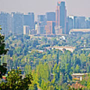 View From Wealthy Neighborhood In Hills Of Santiago-chile Art Print