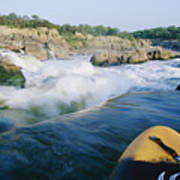 View From Whitewater Kayak At The Top Art Print