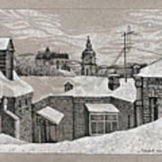 View From Window. Kiev Art Print