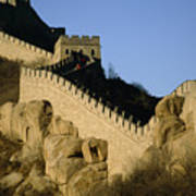 View Of A Section Of The Great Wall Print by Michael S. Yamashita