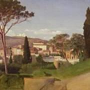 View Of A Villa Print by Jean Achille Benouville