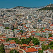 View Of Athens, Greece, From The Parthenon Art Print