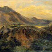 View Of Bagneres De Luchon. Pyrenees Art Print